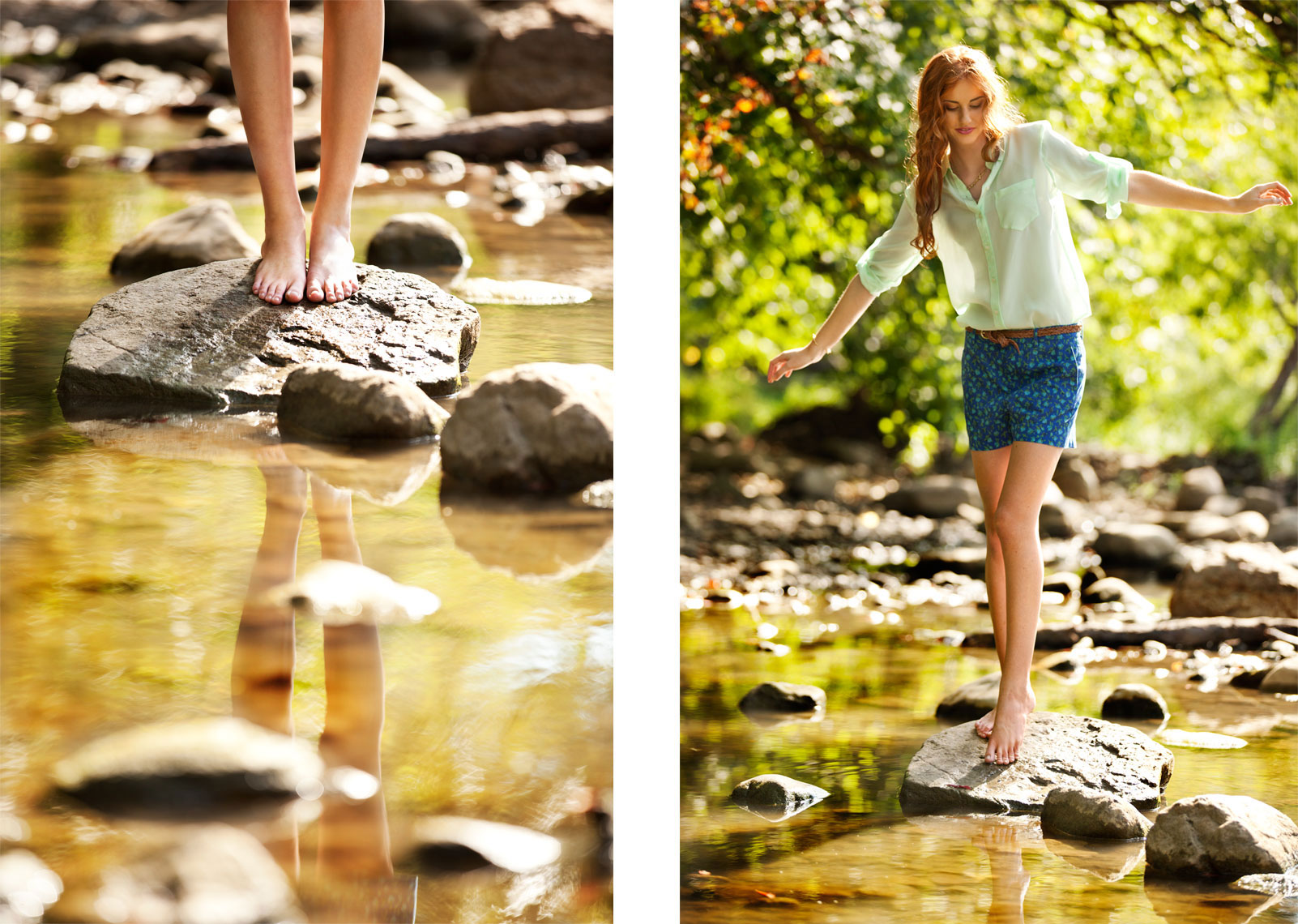 Young Woman Lifestyle Portraits In Creek