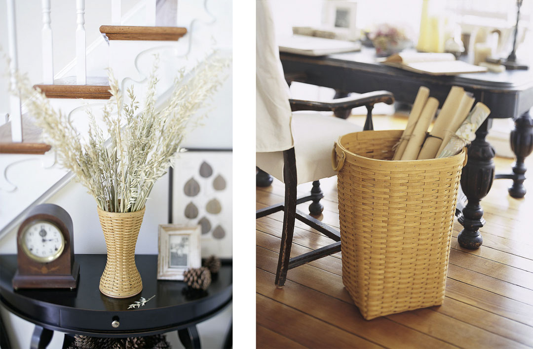 Commercial catalog product still life with baskets