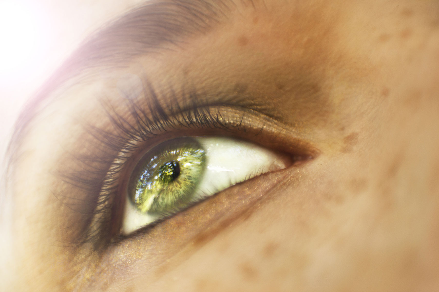 Lifestyle Beauty Portrait Of Womans Eye